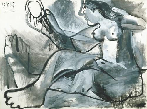 Pablo Picasso | Akt mit Spiegel, 1967