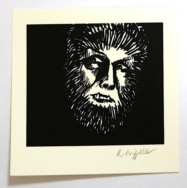 Wolfman | Siebdruck auf Büttenpapier