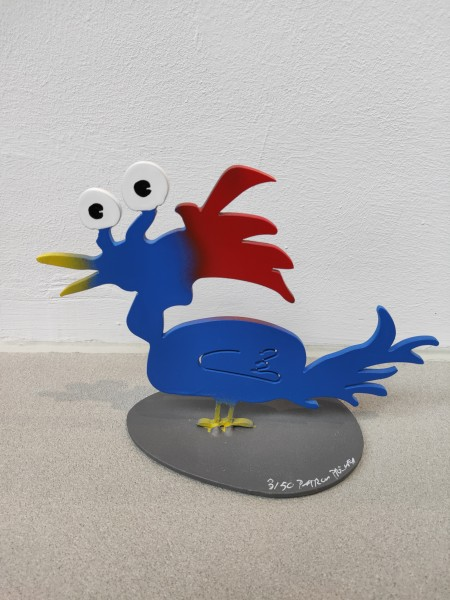 Patrick Preller: Hühnchen Punk (blau/rot) I signiert, nummeriert, limitert