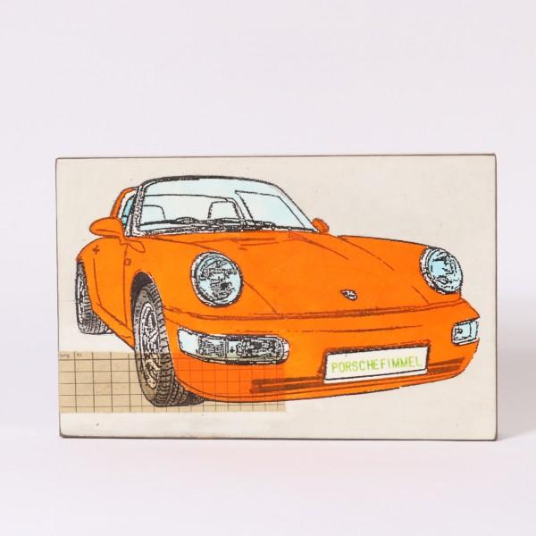 Jan M. Petersen   Porschefimmel (Porsche Orange, Typo grün)