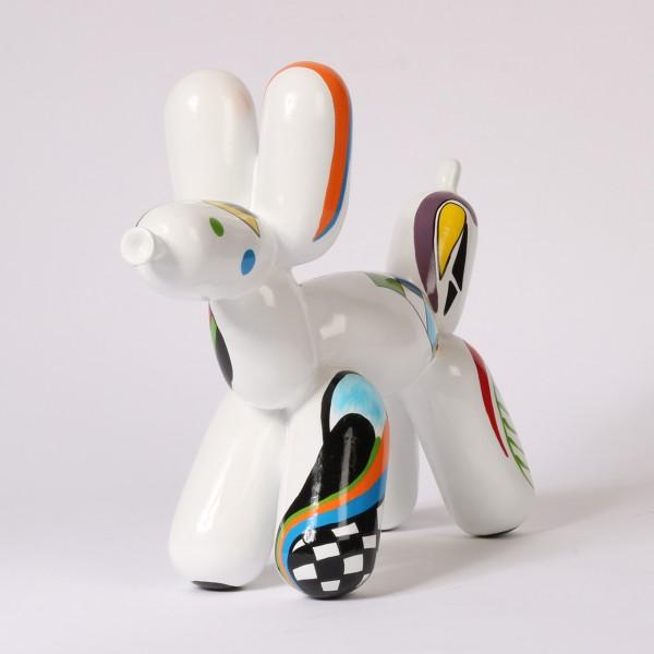 Balloon Dog - Abstract Weiss | Medium