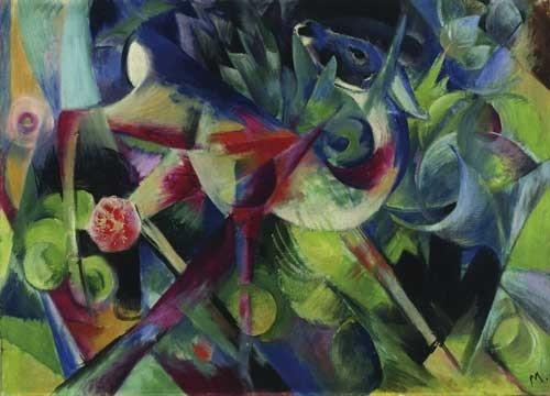 Franz Marc | Reh im Blumengarten, 1913