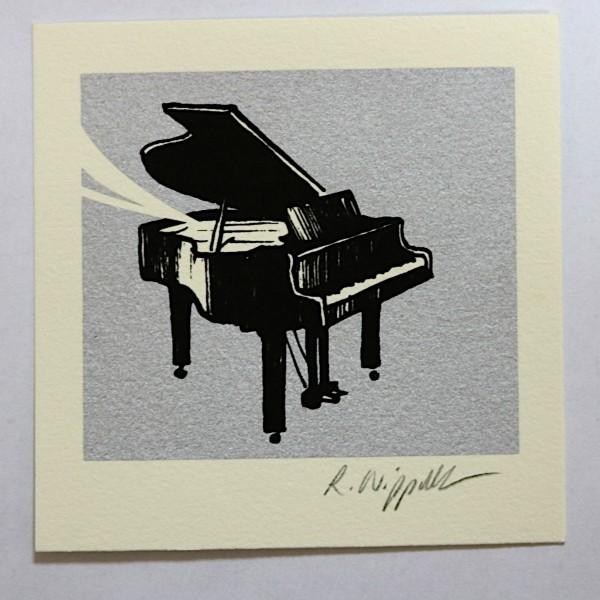 Piano (Jazz-Edition) | Siebdruck | silber