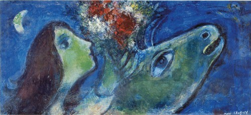 Marc Chagall | Frau mit grünem Esel, 1953