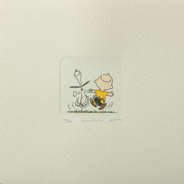 Charles M. Schulz: Peanuts - Charlie Brown und Snoopy, 06, klein. Original-Radierung