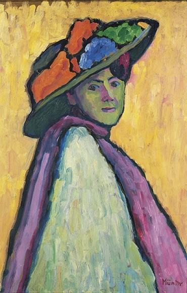 Gabriele Münter | Bildnis Marianne von Werefkin, 1909