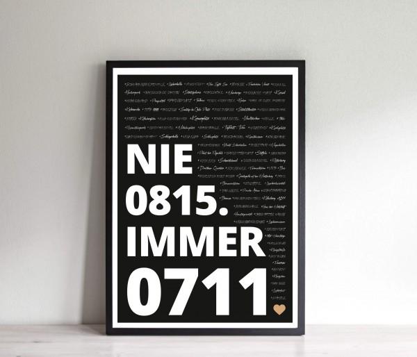 Nie 0815. Immer 0711