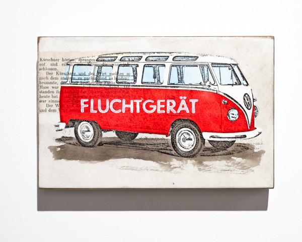 Jan. M. Petersen: Fluchtgerät, rot