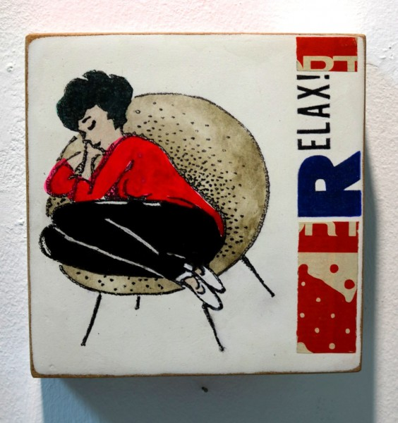 Kati Elm | RELAX (schlafende Frau, rotes Oberteil)