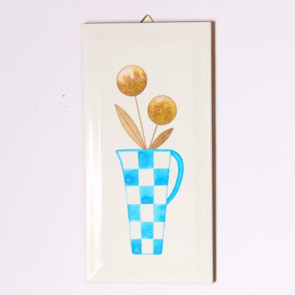 Ask a Duck | Metrofliese - Vase Blau weiss