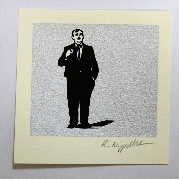 Ben Hecht | Siebdruck auf Büttenpapier | silber
