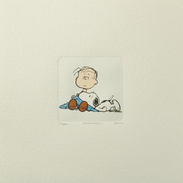 Charles M. Schulz: Peanuts - Linus van Pelt und Snoopy, 01, medium. Original-Radierung