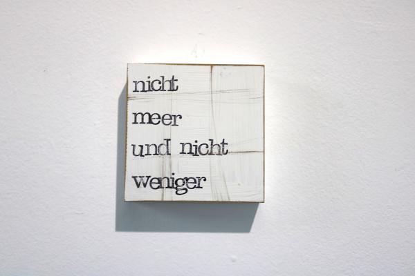 Indra Ohlemutz: nicht meer und nicht weniger (10 x 10 cm)