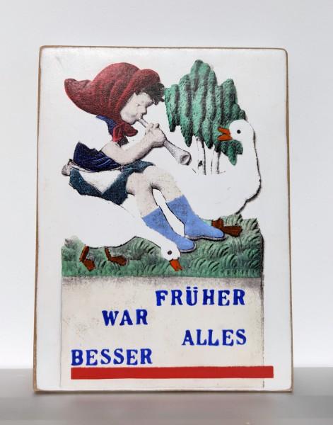 Kati Elm : FRÜHER WAR ALLES BESSER - Mädchen/Gans