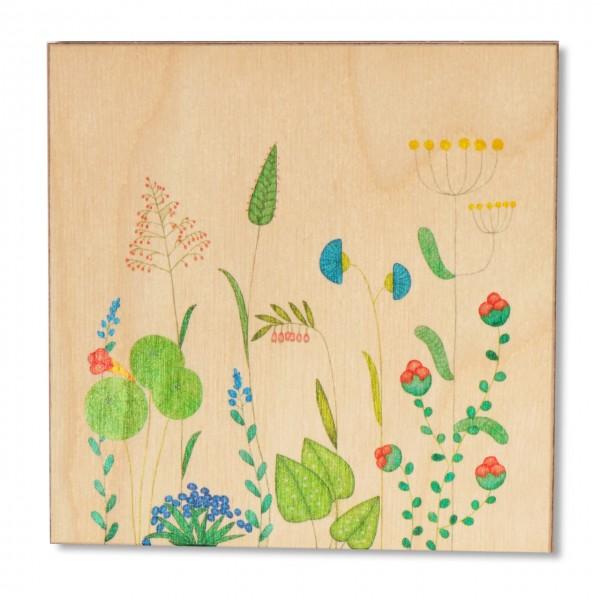 Ask a Duck   Holzbild - Blumen und Gräser