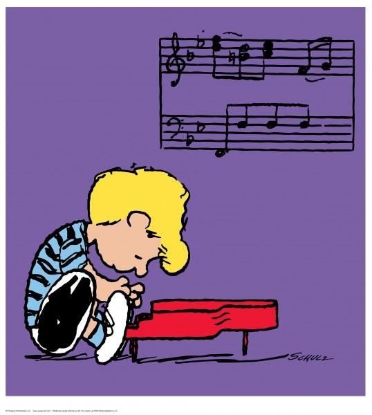 Charles M. Schulz | Schroeder - Purple | Handnummeriert