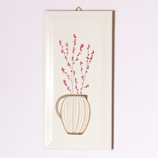 Ask a Duck | Metrofliese - Vase mit Streifen