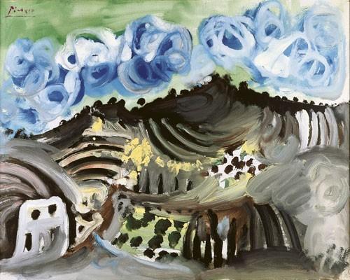 Pablo Picasso | Blick aus dem Atelier des Künstlers, 1967