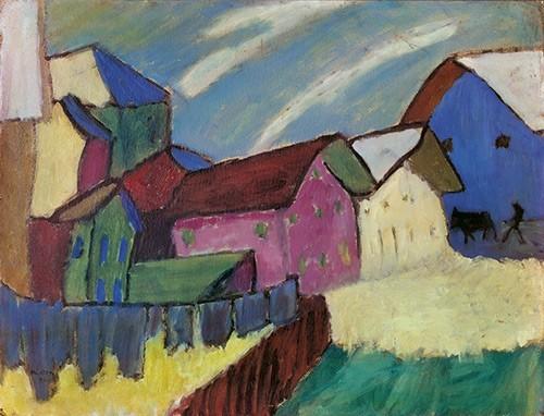 Gabriele Münter | Dorfstrasse im Winter, 1911