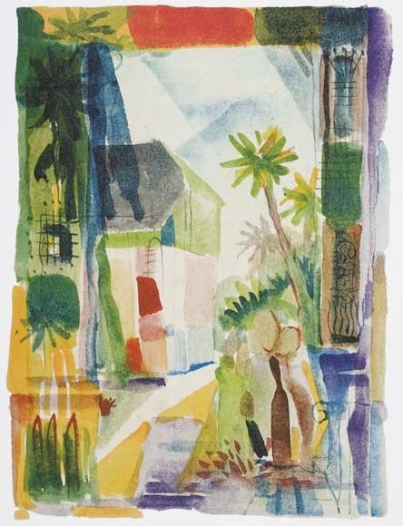 August Macke | Gasse in Hilterfingen, 1914