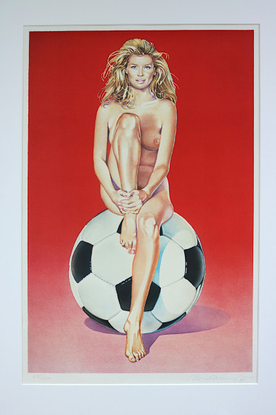 Mel Ramos: Fußball Fannie | 1998 | Originallithografie