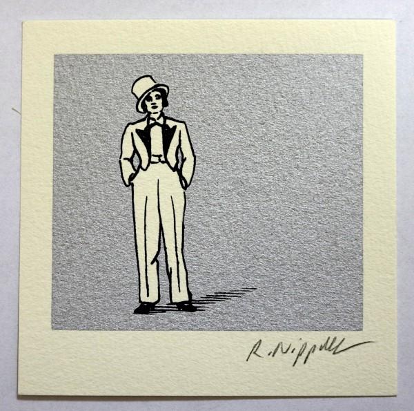 Marlene Dietrich | Siebdruck auf Büttenpapier | silber