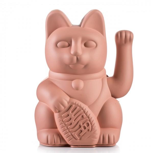 Lucky Cat Winkekatze - Orange Pink
