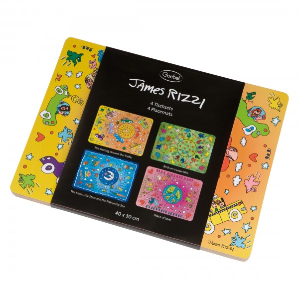 James Rizzi: Set Tischsets / 4 Motive