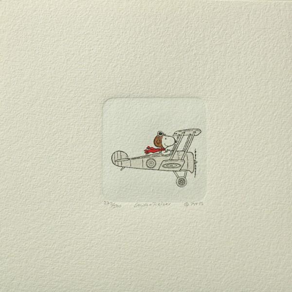 Charles M. Schulz: Peanuts - Snoopy, 07, klein. Original-Radierung