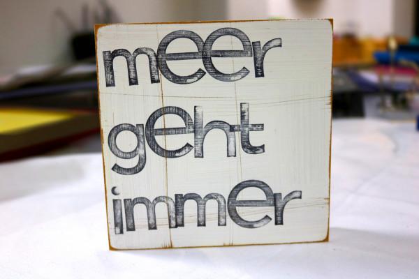 Indra Ohlemutz: meer geht immer (15 x 15 cm)