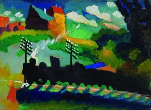 Wassily Kandinsky | Eisenbahn bei Murnau, 1909