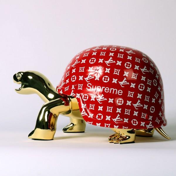 Diederik van Apple   Peace Turtle LV - Rot Gold