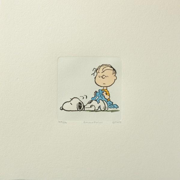 Charles M. Schulz: Peanuts - Linus van Pelt und Snoopy, 02, medium. Original-Radierung