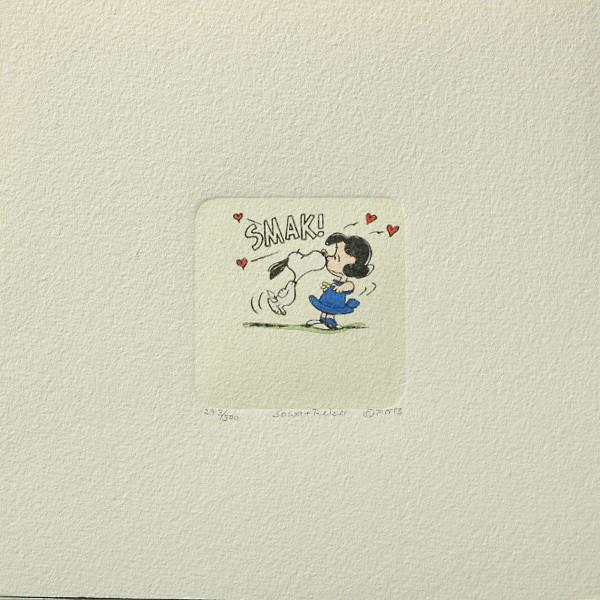 Charles M. Schulz: Peanuts - Lucy van Pelt und Snoopy, 05, klein. Original-Radierung