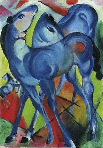 Franz Marc | Die Blauen Fohlen, 1913