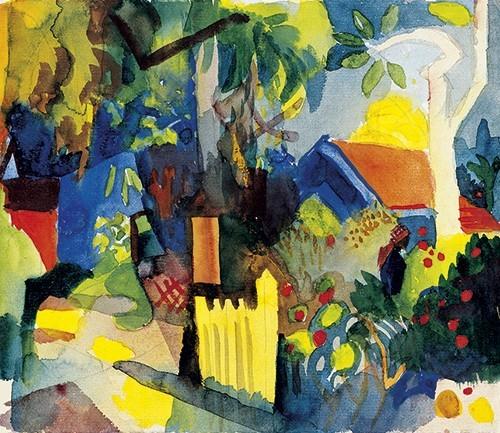 August Macke | Landschaft mit hellem Baum, 1914