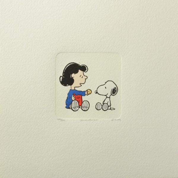 Charles M. Schulz: Peanuts - Lucy van Pelt und Snoopy, 02, medium. Original-Radierung