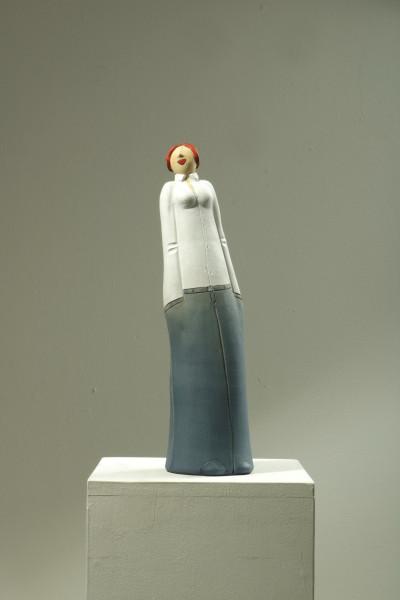 Susanne Boerner: Cooles Mädel | weißes Oberteil