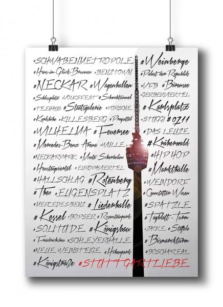 Stuttgartliebe Fernsehturm | Poster