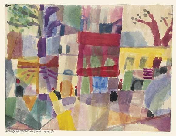 Paul Klee | Rote und gelbe Häuser in Tunis, 1914, 70