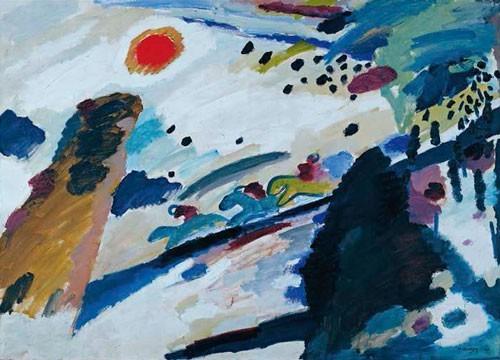 Wassily Kandinsky | Romantische Landschaft, 1911