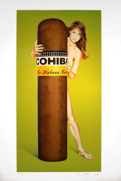 Mel Ramos: Hav-a-Havanna # 3 (Cohiba) | Originallithografie