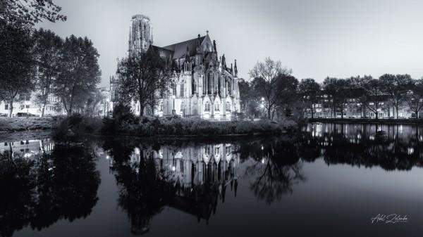 Stuttgart Feuersee | Johanneskirche Photoart