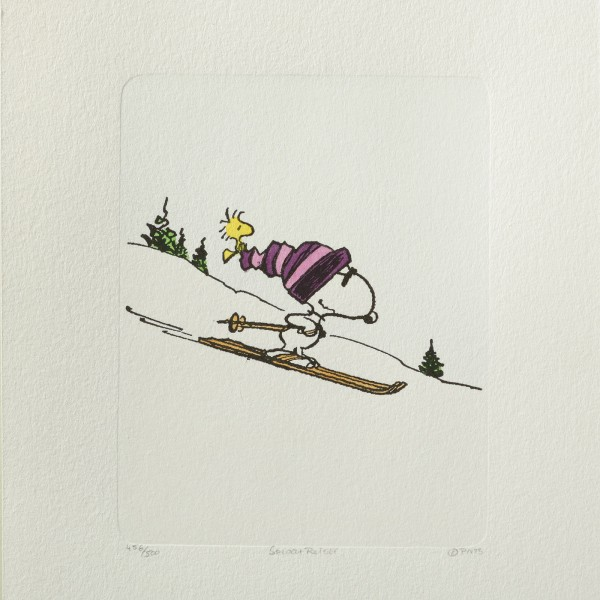 Charles M. Schulz: Peanuts - Snoopy und Woodstock, 04, medium. Original-Radierung
