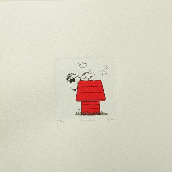 Charles M. Schulz: Peanuts - Snoopy, 02, rot, medium. Original-Radierung