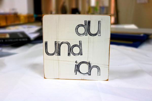 Indra Ohlemutz: du und ich (15 x 15 cm)