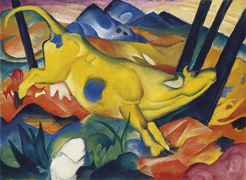 Franz Marc | Die gelbe Kuh, 1911