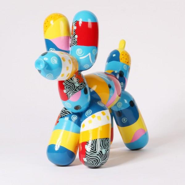 Balloon Dog - Multicol. Hellblau-Gelb | Medium