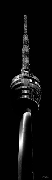 Fernsehturm black | Photoart in Galeriequalität