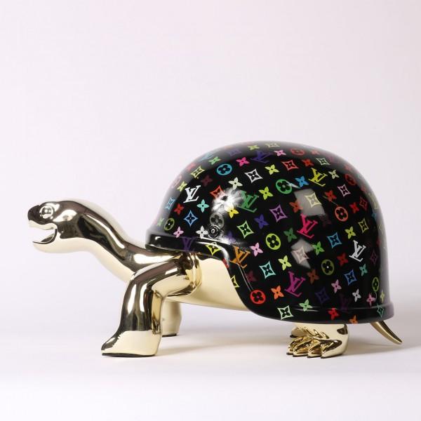 Diederik van Apple | Peace Turtle LV - Schwarz Silbrig